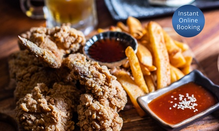 Korean Fried Chicken with Chips and Tap Beer for Two ($29) or Four People ($55) at B One (Up to $136.20 Value)