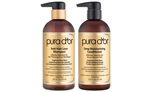 Pura D'Or Gold Label Anti-Hair Loss Shampoo, Conditioner, or Set