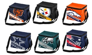 Forever Collectibles NFL Big Logo Stripe 6-Pack Cooler