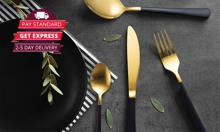Milano Decor Cutlery Set: 16-Piece ($25) or 32-Piece ($45) (Don't Pay up to $198)