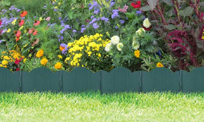Interlocking Garden Edging Set (12 Piece Set) ...
