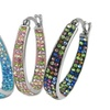30mm French Lock Hoops Made with Swarovski Elements
