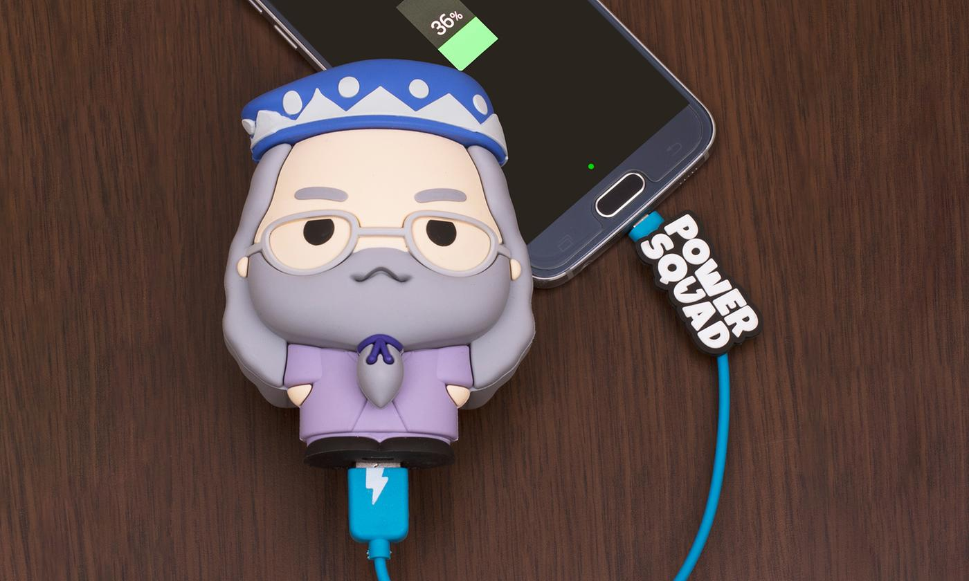 One or Two Thumbs Up Dumbledore PowerSquad Powerbanks 2500mAh