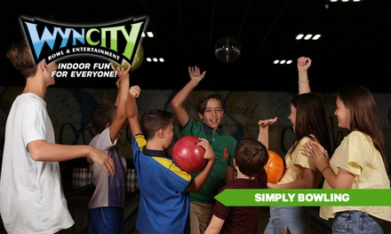 SIMPLY BOWLING: 1 Game ($7.95) or 2 Games ($13.95) Per Person at Wyncity Bowl & Entertainment, Morwell (Up to $20 Value)