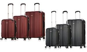 RivoLite Palermo Hard-Sided Expandable Spinner Luggage Set (3-Piece)