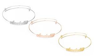 Jewell's House Silvexcraft: Bracelet délicat personnalisé avec plaquage en option (livraison incluse)