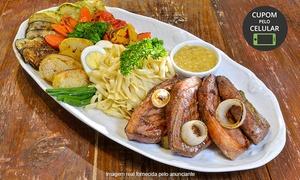 Restaurante Anarco: Restaurante Anarco – Batel: picanha, galeto ou tilápia + massa ou arroz e 3acompanhamentos para 2 pessoas
