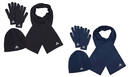 Adidas-Winter-Set in Navy oder Schwarz (64% sparen*)