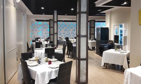 Cena Gourmet para 2 con entrantes, botella de vino, pan, principales y postres desde 49,90 € en Borjazcutia Restaurante