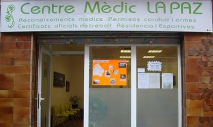 Certificado médico psicotécnico para obtención o renovación de carnet por 24,95 € en Centro Médico La Paz