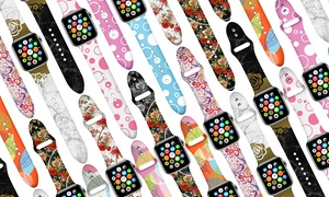 WalvoDesign Design with Silicone Band for Apple Watch Series 1,2,3,4