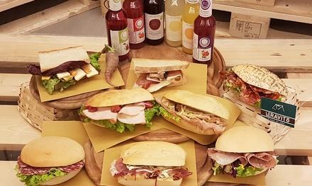 Menu panino gourmet con bibita bio
