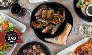 Barolo Restaurant: 3-Course Italian Lunch or Dinner for Two People ($39) with Carafe of Wine ($55) at Barolo Restaurant (Up to $121 Value)