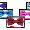 Mario Lorenzi Men's Bow Tie with Pocket Square