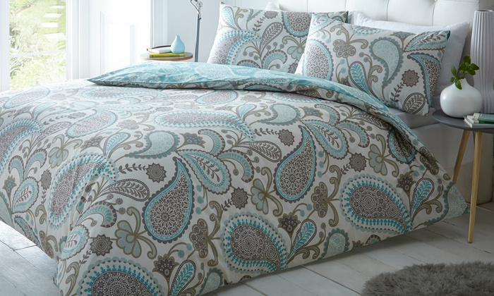 Bold Paisley Duvet Cover Set Groupon Goods