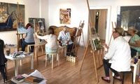 4 Stunden Malkurs inkl. Materialien, Kaffee, Tee und Gebäck in der Kunstschule Atelier Artgeschoss (39% sparen*)