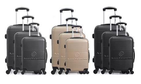 Set de 3 maletas Toscana de Anna Valentina Oferta en Groupon