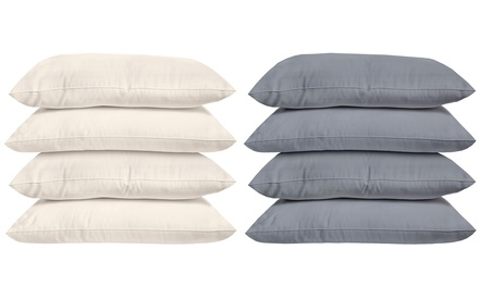 $14.95 for a Four-Pack of 100% Cotton Plain Dyed Pillowcase in a Choice of Colour