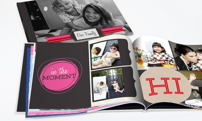 "York Photo: One 8""x8"", 8""x11"", or 12""x12"" Custom Hardcover Photo Book from York Photo (Up to 71% Off)"