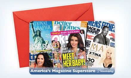 groupon daily deal - $12 for $25 Worth of Magazine Subscriptions from Blue Dolphin Magazines