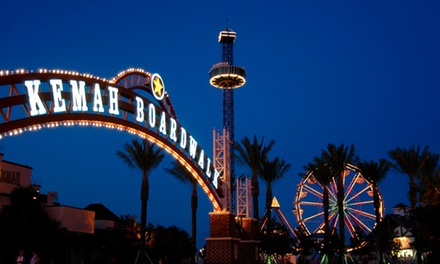 Two All-Day Ride Passes at Kemah Boardwalk and a $50 Landry's eGift Card (15% Off)