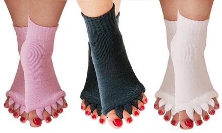 1, 2 o 3 pares de calcetines separadores alineación del pie