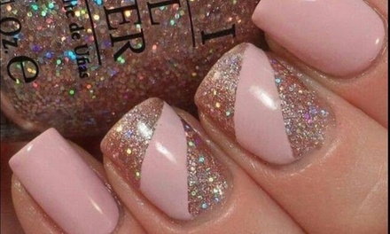 Gel Manicure, Emerald Pedicure, or Both with Choice of Beverage at The Nail Club (Up to 48% Off)
