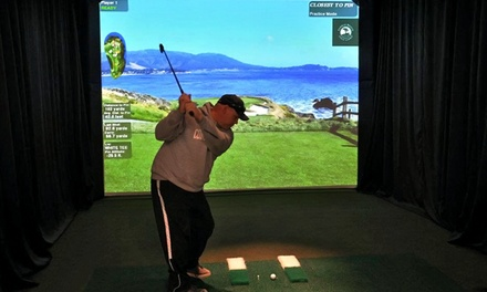 Virtual-Golf Packages for Up to Four People at Canton Indoor Golf Center (Up to 50% Off).