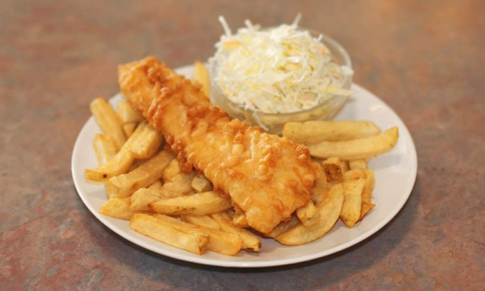 Austin Fish & Chips - Multiple Locations: C$15.95 for Wild Cod Dinner and Drinks for Two at Austin Fish & Chips (C$31.95 Value). Two Locations.