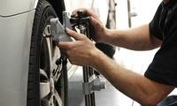 Achsvermessung und Einstellung, opt. mit Wuchten der Räder, bei Automobil AG (bis zu 71% sparen*)