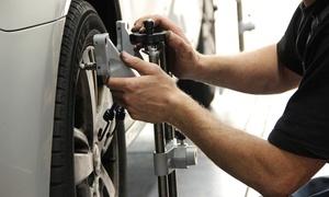 Automobil AG: Achsvermessung und Einstellung, opt. mit Wuchten der Räder, bei Automobil AG (bis zu 71% sparen*)