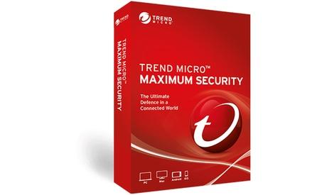 Antivirus Trend Micro para 5 dispositivos con licencia para un máximo de 3 años