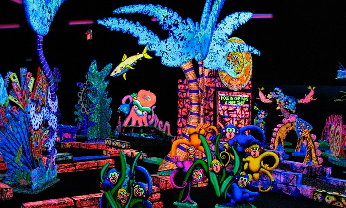 Putting Edge - Nepean: One Round of Glow-in-the-Dark Mini Golf for Two or Four at Putting Edge (Up to 52% Off)