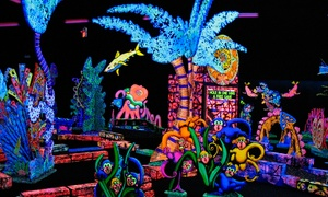 Putting Edge: One Round of Glow-in-the-Dark Mini Golf for Two or Four at Putting Edge (Up to 38% Off)