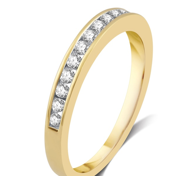 Size-9.75 Diamond Wedding Band in 10K Pink Gold 1//10 cttw, G-H,I2-I3