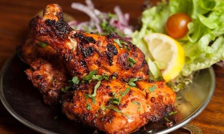 Menú hindú para dos de L-V y D o buffet libre con espectáculo de Bollywood V y S y D para dos desde 19,95 € en The Mahal