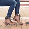 Redfoot Damen Leder Combat Boots