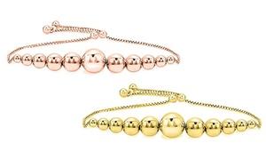 Italian Sterling Silver Bracelet in 18k Gold or 18K Rose Plating