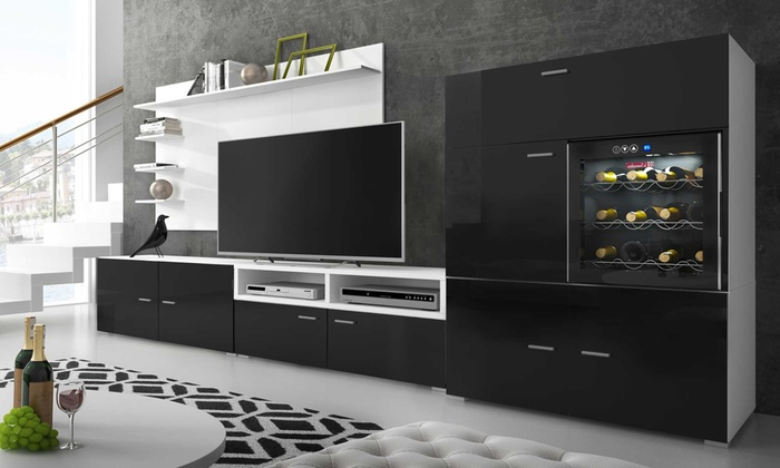 Alkohol Aufbewahrung Möbel wohnzimmer möbel mit wein fach groupon goods