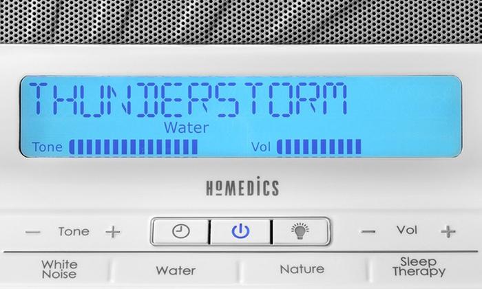 Homedics Hds-2000 Deep Sleep Ii Relaxation Sound /& White Noise Machine New