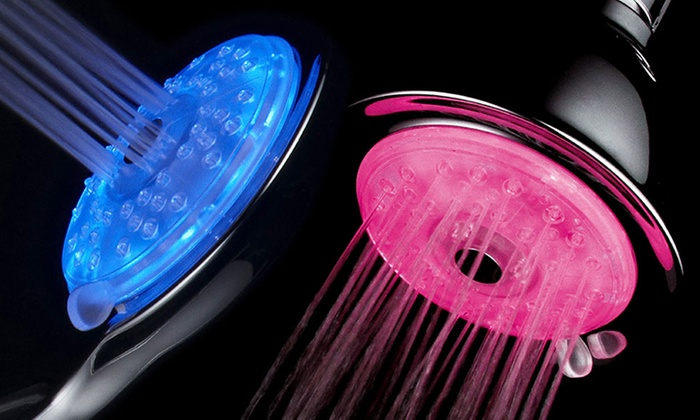 Luminex High-Power 4-Setting 7-Color Turbo LED Fixed or Handheld Showerheads with Air-Jet Technology