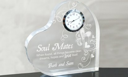 Image Placeholder For Up To 52 Off Custom Heart Shaped Acrylic Clock