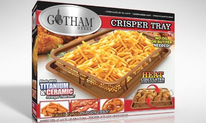 Gotham Steel Crisper Tray With Non Stick Copper Surface