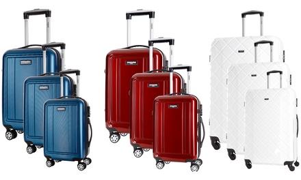 Set 3 valises en PC ou ABS, 8 roues 360°