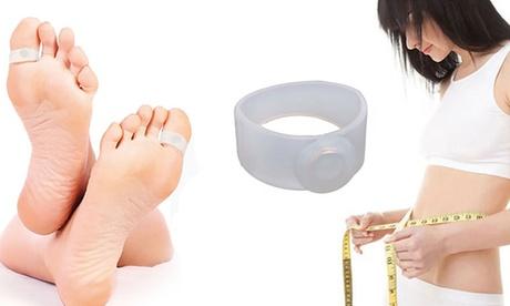 1, 2 o 4 pares de anillos magnéticos de silicona para el pie