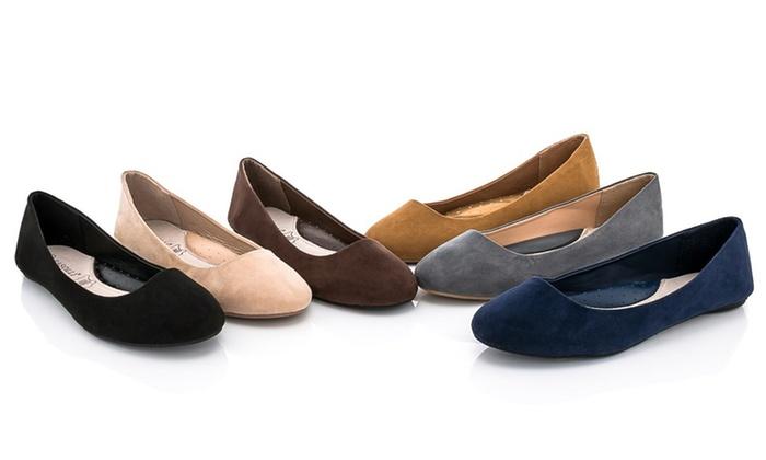 Rasolli Women's Basic Ballet Flats with
