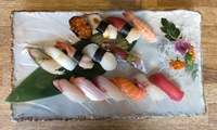 Sushi Platter with Wine for Two: 26 or 52 Pieces at Nippon Izakaya