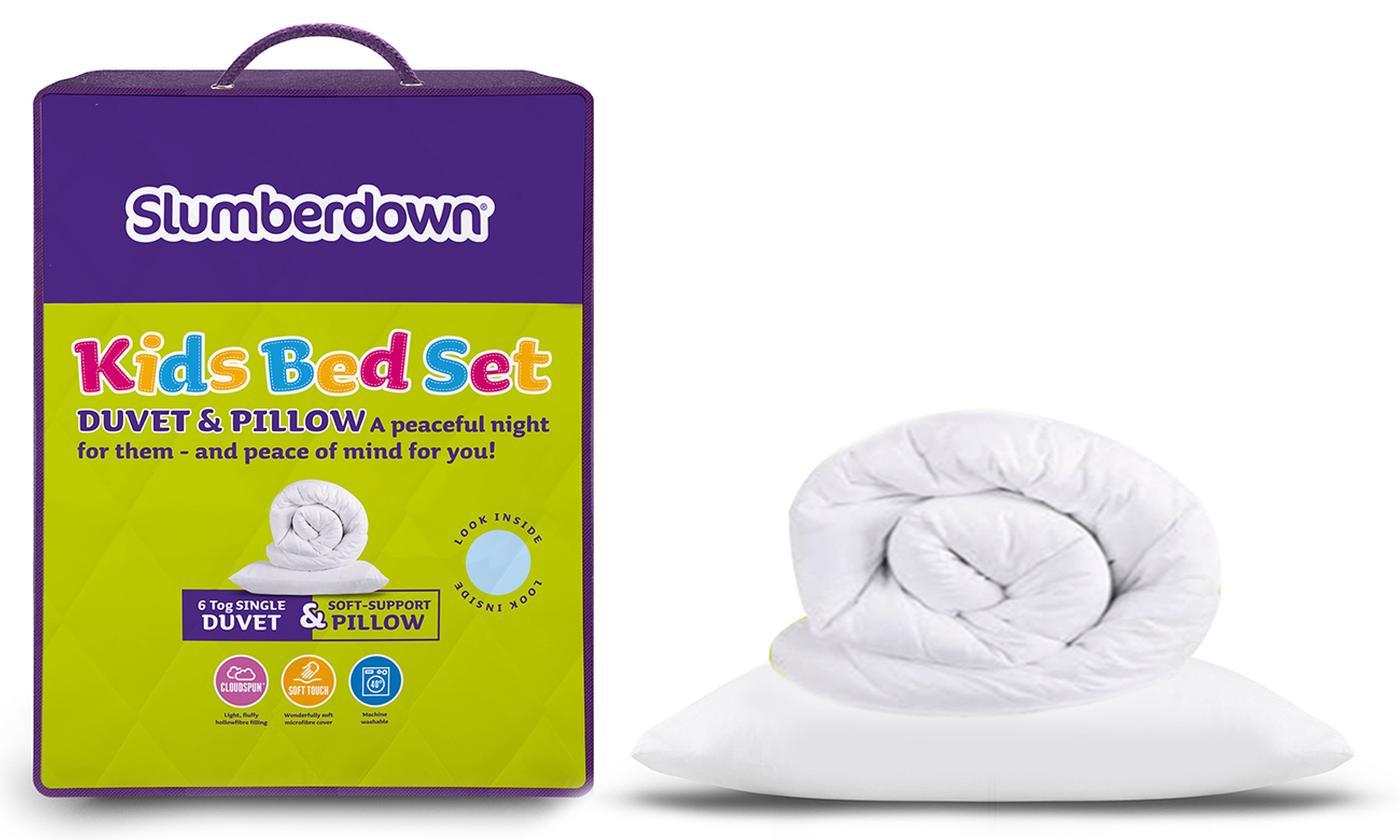 Slumberdown 6 Tog Kids' Duvet and Pillow Set for £10