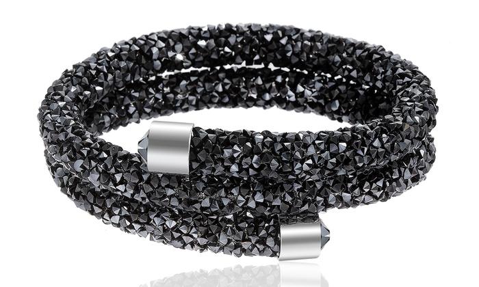 Double Wrap Crystal Bracelet  ed95f1dad