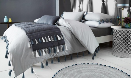 TasselFinish Duvet Set